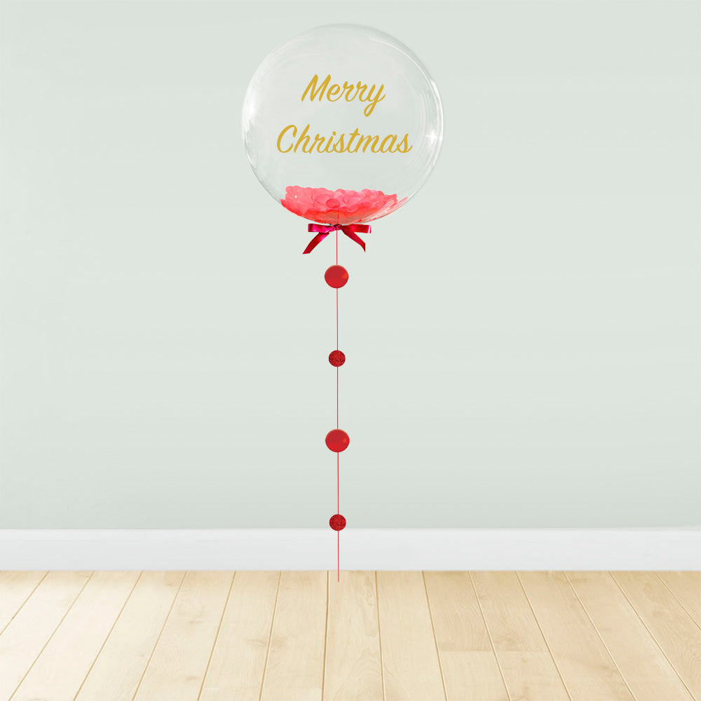 Red Confetti Filled Christmas Package