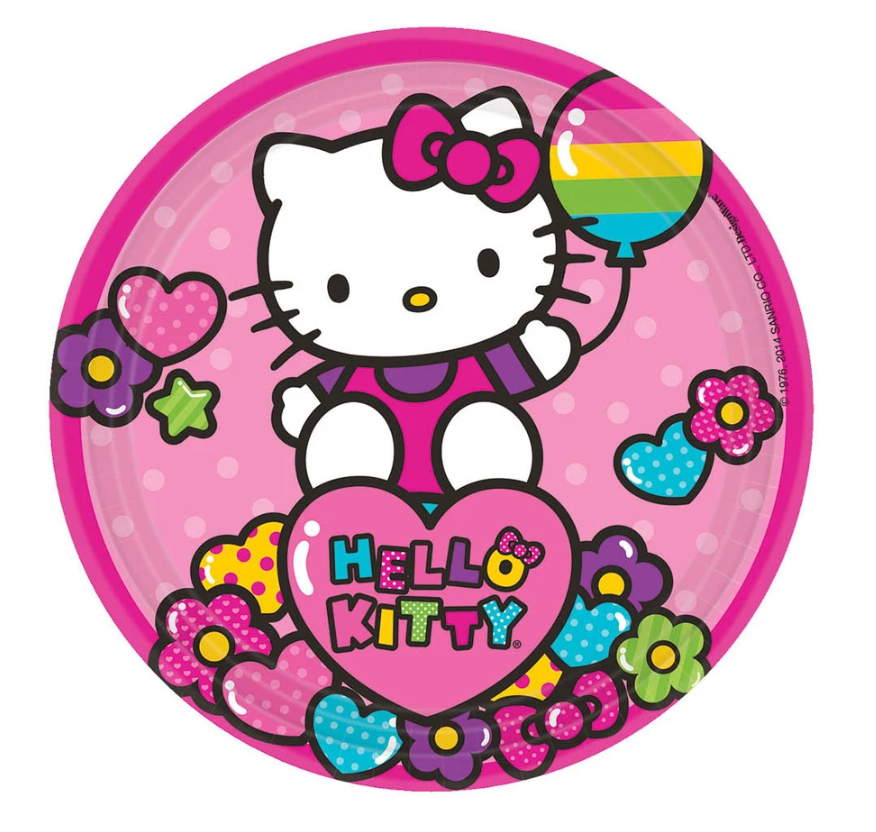 18 INCH HELLO KITTY RAINBOW STYLE HAPPY BIRTHDAY FOIL BALLOON