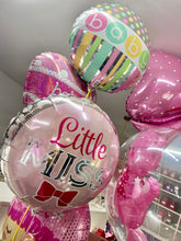 "Load image into Gallery viewer, 18"" FOIL BALLOON PINK BOW LITTLE MISS"