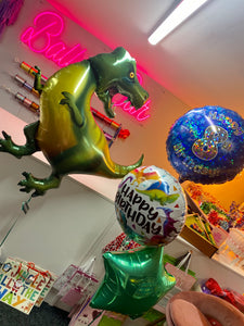 19'' PACKAGED STAR GREEN FOIL BALLOON