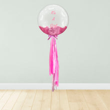 Load image into Gallery viewer, Baby Feet Print Personalised Balloon Package Pink