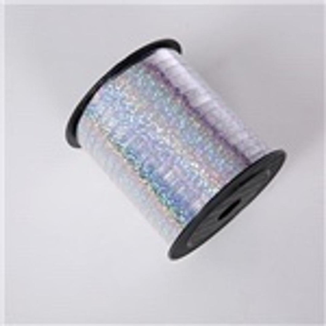 CURLING RIBBON 5mm x 1.5m HOLOGRAPHIC SILVER