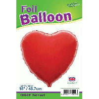 "18"" PACKAGED HEART RED FOIL BALLOON"