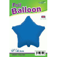 18'' PACKAGED STAR ROYAL BLUE FOIL BALLOON