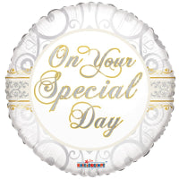 "18"" ON YOUR SPECIAL DAY FOIL BALLOON"