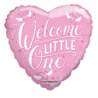 "18"" WELCOME LITTLE ONE PINK HEART FOIL"