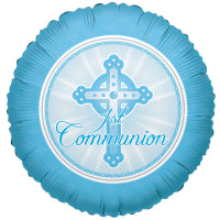"18"" LIGHT BLUE COMMUNION FOIL BALLOON"