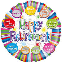 "18"" HAPPY RETIREMENT SPEECH BUBBLES BALLOON"