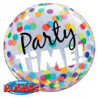 "22"" BUBBLE PARTY TIME COLOURFUL DOTS"