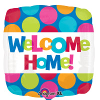 "18"" FOIL WELCOME HOME SQUARE"