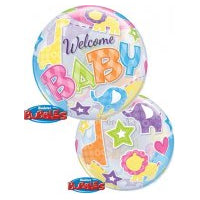 "22"" SINGLE BUBBLE WELCOME BABY ANIMALS PATTERNS"