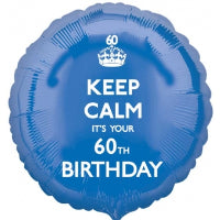 "18"" FOIL BALLOON KEEP CALM ITS YOUR 60TH BIRTHDAY"