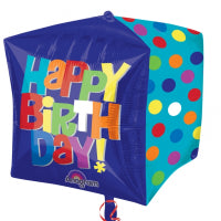 "15"" FOIL CUBZ BALLOON - HAPPY BIRTHDAY"