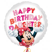 "18"" FOIL MINNIE MOUSE HAPPY BIRTHDAY DAUGHTER"