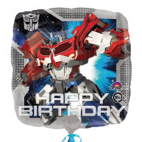 "18"" TRANSFORMERS HAPPY BIRTHDAY 2 SIDED BALLOON"
