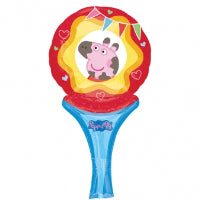 "9"" PEPPA PIG INFLATE A FUN AIR FILL FOIL BALLOON"