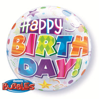 "Load image into Gallery viewer, 22"" BUBBLE BIRTHDAY PARTY PATTERNS"