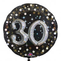 "32"" 3-D 30 GOLD SPARKLING BIRTHDAY"