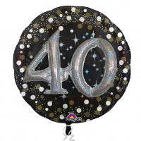 "32"" 3-D FOIL 40 GOLD SPARKLING BIRTHDAY"