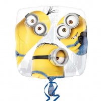 "18"" MINION GROUP SQUARE FOIL BALLOON"