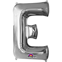 "16"" Foil Letter E - Silver Packaged Air Fill (ANAGRAM)"