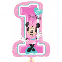 MINNIE MOUSE 1ST BIRTHDAY SUPER SHAPE FOIL BALLOON