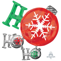 HO HO HO ORNAMENT SUPERSHAPE 35