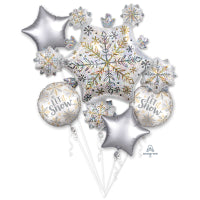 SHINING SNOW FOIL BOUQUET