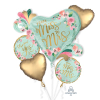 MINT TO BE MISS TO MRS SATIN FOIL BOUQUET