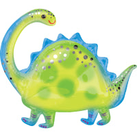 "BRONTOSAURUS SUPERSHAPE FOIL BALLOON 32""/81cm w x 27""/68cm h"
