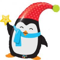 "35"" ELFIN PENGUIN SUPER SHAPE FOIL BALLOON"