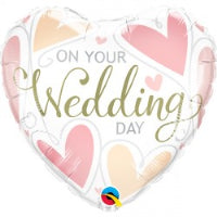 "18"" HEART ON YOUR WEDDING DAY FOIL BALLOON"
