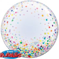 "24""CONFETTI DOTS COLOURFUL DECO BUBBLE"