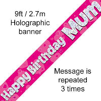 HAPPY BIRTHDAY MUM FOIL BANNER
