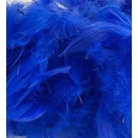 "ROYAL BLUE ELEGANZA FEATHERS MIXED SIZES 3"" - 5"" (50G BAG)"