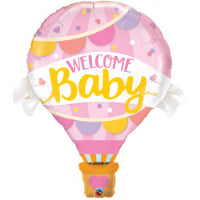 "42"" WELCOME BABY PINK BALLOON SHAPE"