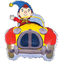 NODDY IN CAR SHAPE FOIL BALLOON 25