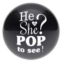 "24"" HE OR SHE ""POP TO SEE"" GENDER REVEAL BALLOON - BOY OR GIRL?"
