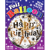 "Load image into Gallery viewer, 18"" GOLD STARS HAPPY BIRTHDAY FOIL BALLOON"