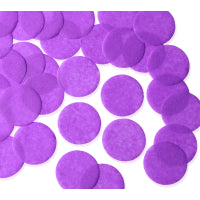 PURPLE CIRCULAR PAPER BALLOON CONFETTI 250G x 55MM
