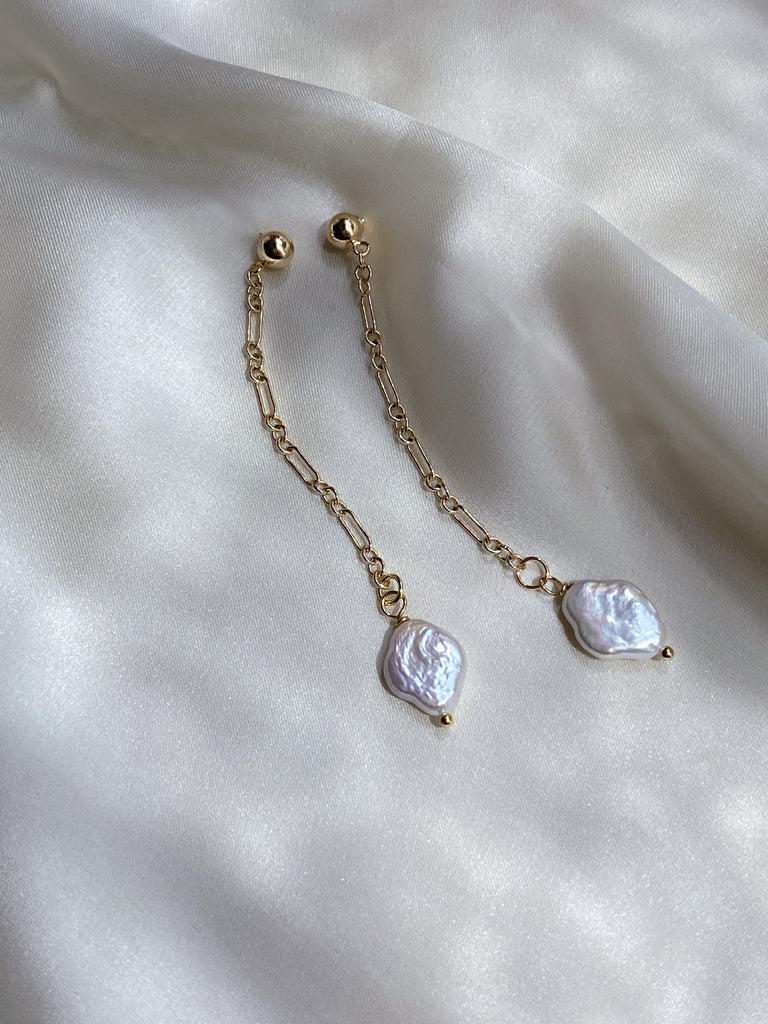 Mini Pearl Drop Earrings - ÉCLATANT