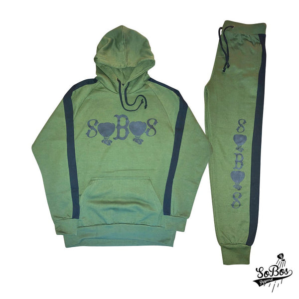 SoBos Sweatsuit(Olive Green)