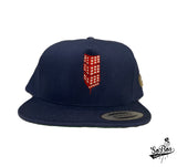 "SoBos ""Building"" Snapback (Navy Blue/Red & White)"