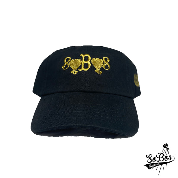 SoBos Dad Hat (Black/Gold)