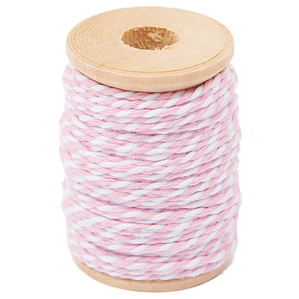 Hilo Cotton Twine 15 mts <br> Rose / White
