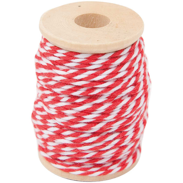 Hilo Cotton Twine 15 mts <br> Red / White