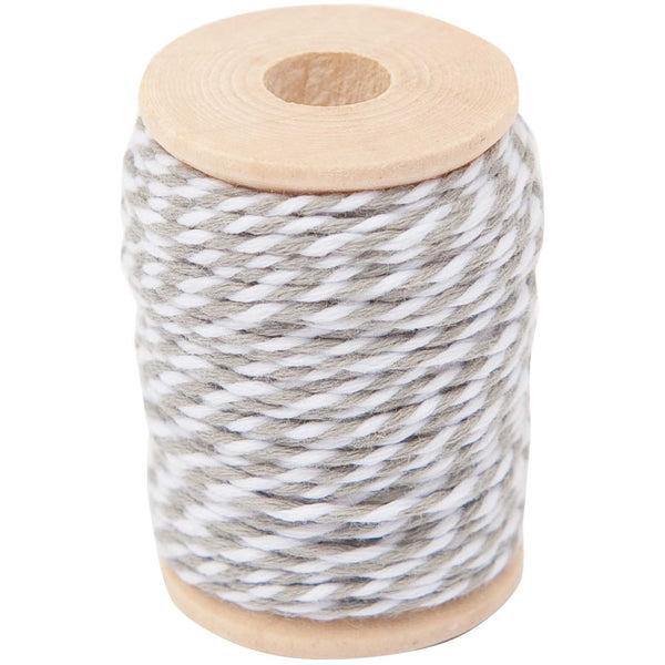 Hilo Cotton Twine 15 mts <br> Grey / White