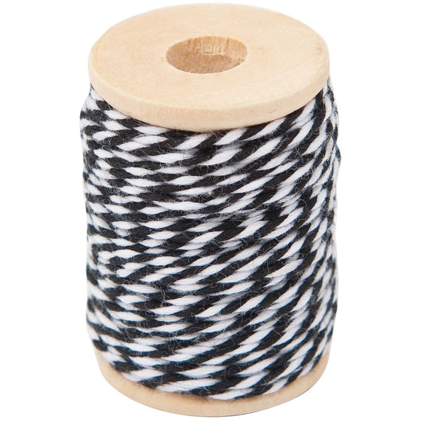 Hilo Cotton Twine 15 mts <br> Black / White