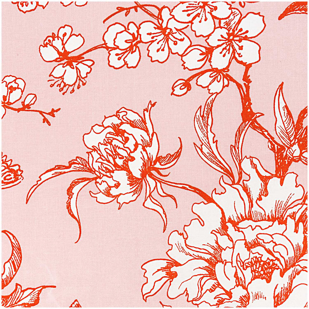 Powder, Cherry Blossom Orange (100% Algodón) <br> De corte, 140 cm de Ancho