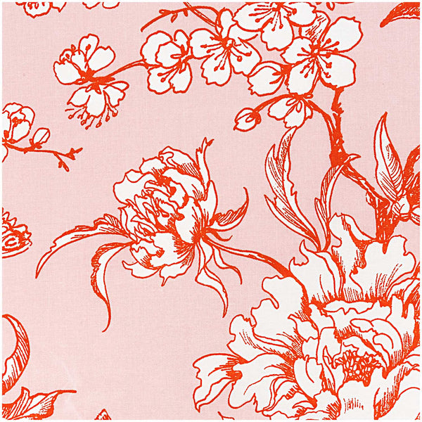 Powder, Cherry Blossom Orange (100% Algodón) <br> De corte, 140cm de ancho